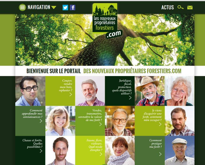 Interface nouveaux propriétaires forestiers