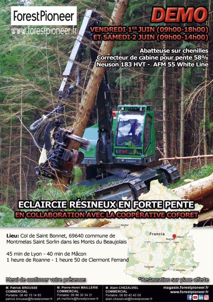Démonstration abatteuse dans les monts du Beaujolais ! @ Col de Saint Bonnet | Montmelas-Saint-Sorlin | Auvergne-Rhône-Alpes | France