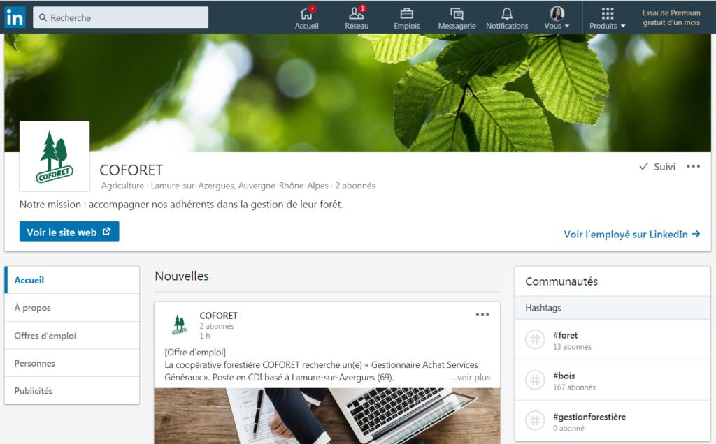 LinkedIn COFORET